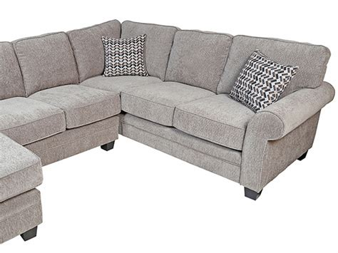 noelle aluminum gray 2 sectional with chaise