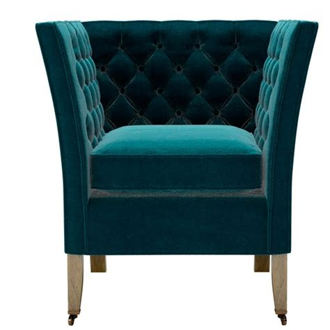 Turquoise Armchair by The Descartes Armchair In Turquoise Cotton Matt