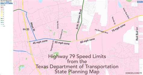 speed limits in texas map mimsy rock extends dangerously low speed limits on highway 79