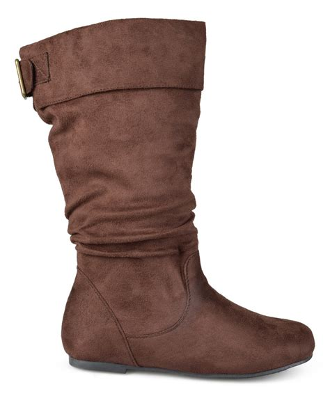 wide calf slouch boots journee collection brown shelley slouch wide calf boot