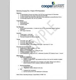 advertising plan template marketing caign template cyberuse
