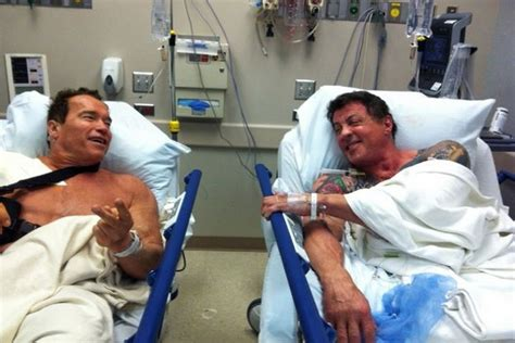 a look at just how well arnold schwarzenegger has aged arnold schwarzenegger and sylvester stallone in surgery