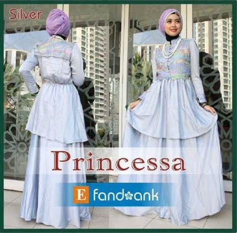 Gamis Pesta Warna Silver princessa by efan silver baju muslim gamis modern