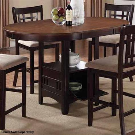 coaster 105278 brown wood dining table a sofa