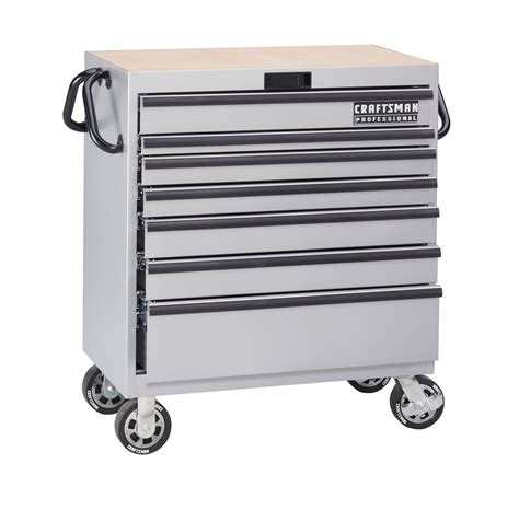 Mobile Drawer Cart by Craftsman 36 In 7 Drawer Mobile Tool Cart Silver