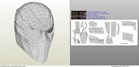 deathstroke armor template dc comics deathstroke mask foam pepakura eu mask