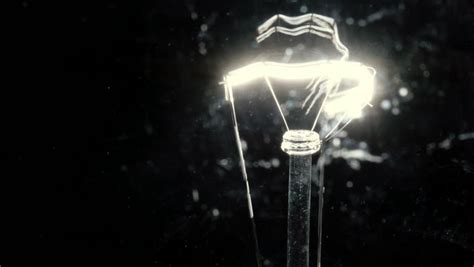 Power And Light Events by Up Of Bulb Filament Stock Footage