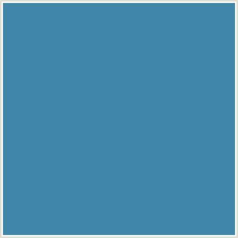 blue steel color 4086aa hex color rgb 64 134 170 blue steel blue