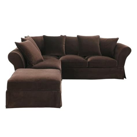 brown velvet sofa 6 seat corner sofa in chocolate velvet roma roma