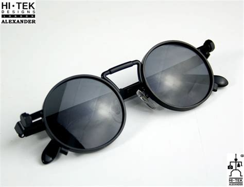 Unisex Plating Polarized Sunglasses S1005c black metal sunglasses with black lenses 100828