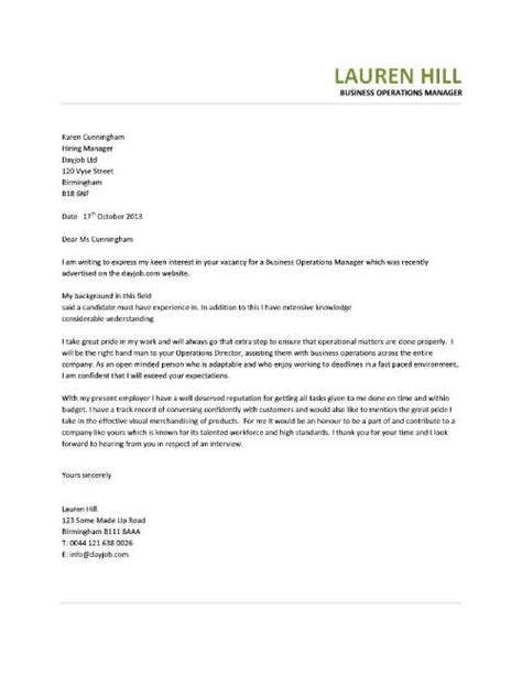 Cover Letter Exle Business Controller manager cover letter exle 28 images exle of cover
