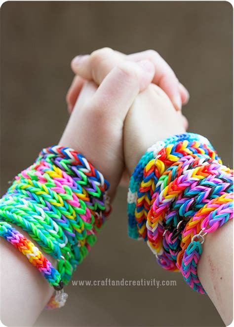 Rubber Band Necklace With Loom by Simple Diy Rubber Band Bracelets No Loom Required