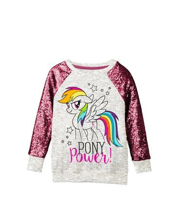 small ls at walmart my little pony girls ls sequin top walmart canada