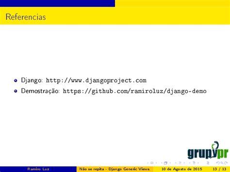 django tutorial generic views n 227 o se repita django generic views semana acad 234 mica