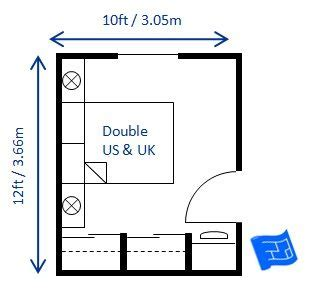 double layout video here s a small bedroom design for a double bed 10 x 12ft