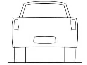 back to back drawing templates car drawing tutorial up truck rear view junior car