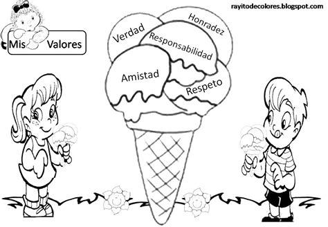 dibujos infantiles para colorear de responsabilidades rayito de colores carteles de valores