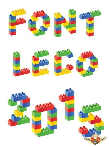lego style english letters raster clip art