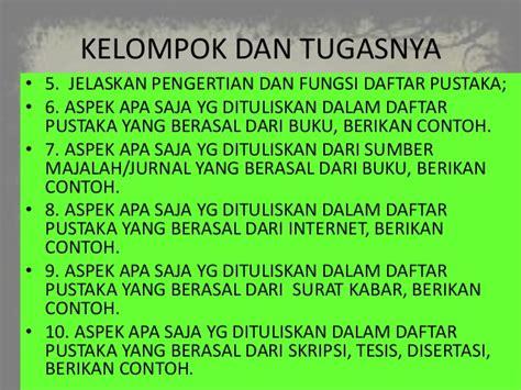 penulisan daftar pustaka bahasa indonesia ppt daftar pustaka bahasa indonesia
