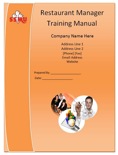 trainer manual template restaurant manager manual template guide help