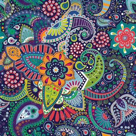 eps clipart paisley floral seamless pattern vector image of