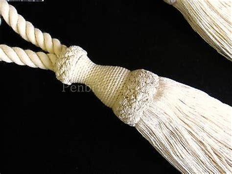 cream curtain tie backs 2 natural cotton curtain tiebacks jones interiors cream