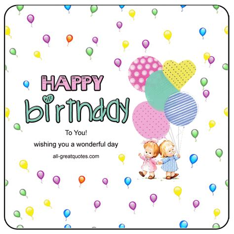 Happy Birthday Wish You A Wonderful Day Animated Happy Birthday Card Wishing You A Wonderful Day