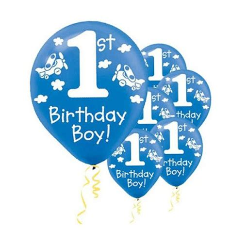 Balon Happy Birthday Tart world of supplies baby boy s 1st birthday balloons