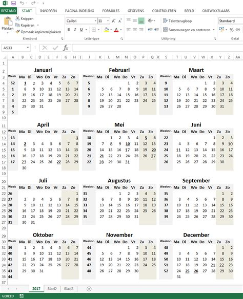 Kalender 2018 Excel Nederlands Maandkalender 2018 Downloaden Excelvoorbeelden Nl