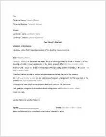 Section 21 Notice Template by Section 8 Notice Sle Format Template