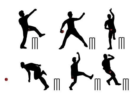 cricket free cricket player vector free vector stock