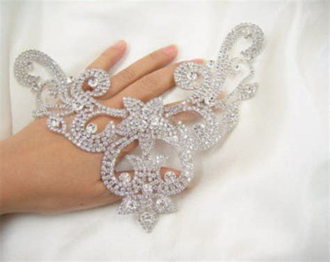 diamante applique diamante applique sweet rhinestone applique bridal