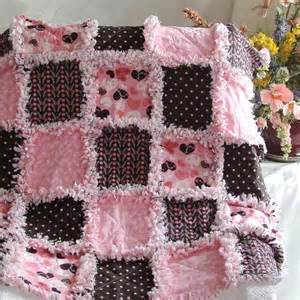 baby rag quilt patterns pink and brown sweet baby