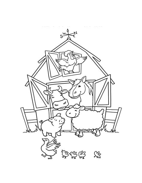 Elephant Barns Barn Coloring Pictures Coloring