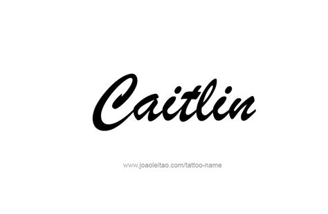 caitlin name tattoo designs