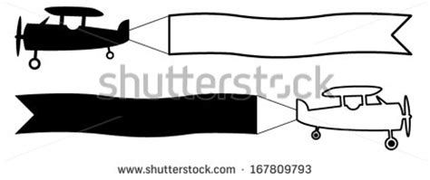 Airplane Banner Stock Images Royalty Free Images Vectors Shutterstock Airplane Banner Template