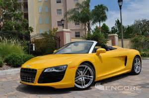 Yellow Audi R8 Find Of The Day Imola Yellow Audi R8 Spyder V10 In