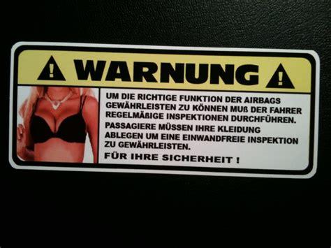 Autoaufkleber Fun by Funaufkleber Sexy Airbag Sonnenblende Funsticker Adesivo