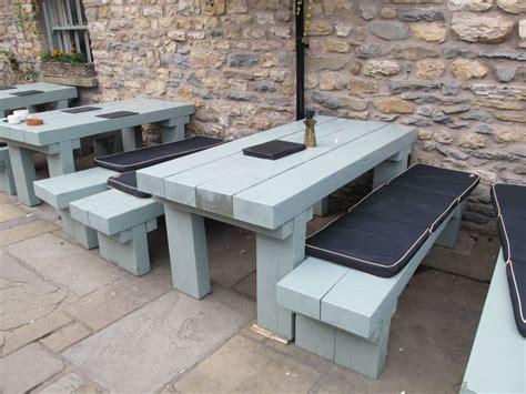 Railway Sleeper Garden Table by Sleeper Wood Benches Projects Railway
