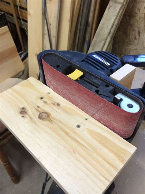 portable belt sander stand pins completed pinterest