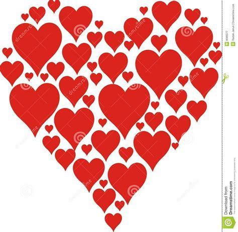Grand Coeur Illustration De Vecteur Illustration Du Dessin De Coeur Rouge L