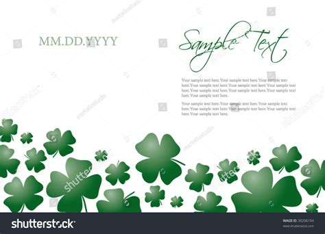 st s day invitation card templates free four leaf clover card and invitation template for st