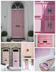 Pink Front Door Exterior Color Inspirations The Of A Pink Painted Door House Appeal