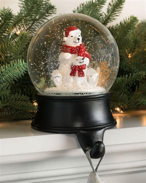 snow globe stocking holder balsam hill snow globe holder balsam hill