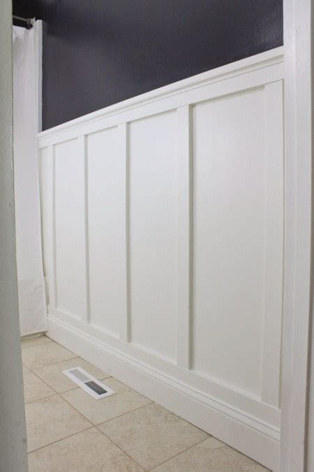 Diy Wainscoting Bathroom by Board And Batten Bathroom Diy Angela Made