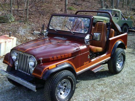 brown jeep cj7 1984 jeep cj7 frame off restored for sale in dallas texas