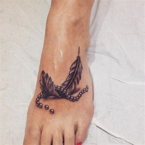 3d tattoo on foot 46 feather tattoo designs ideas design trends