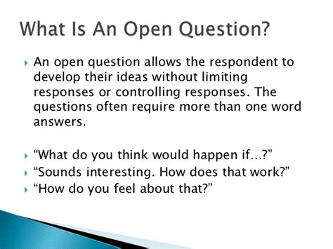 what is open on open closed questions