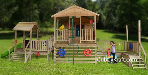 playzone cubby fort backyard playhouses by cubbykraft