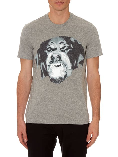 grey rottweiler givenchy cuban fit rottweiler cotton t shirt in gray for lyst